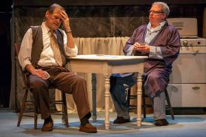 "John Contini and Tom Murray in ""Death Of A Salesman"" at Insight Theatre Company. Photo: John Lamb"