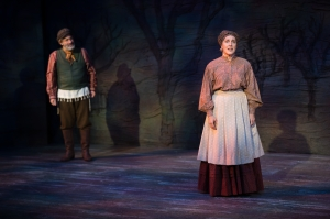 "Bruce Sabath and Kari Ely explore the question, ""Do You Love Me?"" during ""Fiddler On The Roof"" at Stages St. Louis. Photo: Peter Wochniak"