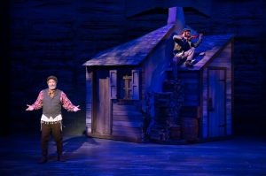 "Bruce Sabath and Paul Sabala in the opening of ""Fiddler On The Roof"" at Stages St. Louis. Photo: Peter Wochniak"