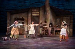 "Tevye's three eldest daughters dream of their future in ""Matchmaker, Matchmaker"" at Stages' ""Fiddler On The Roof."" Photo: Peter Wochniak"