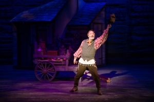 "Bruce Sabath as Tevye wonders what life would be like ""If I Were A Rich Man"" at ""Fiddler On The Roof"" as performed at Stages St. Louis. Photo: Peter Wochnicak"