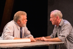 "Greg Johnston as Ben listens to the pleas of his brother Ned- John Flack- in Hot City Theatre's ""The Normal Heart."" Photo: Todd Studios"