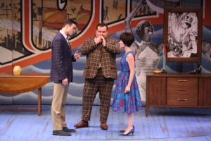 "A bit of therapy during the Rep's production of ""One Man, Two Guvnors."" Photo: Jerry Nauneim, Jr."