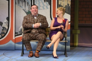 "Francis Henshall tries his smooth moves during a scene in ""One Man, Two Guvors"" at the Rep. Photo: Jerry Naunheim, Jr."