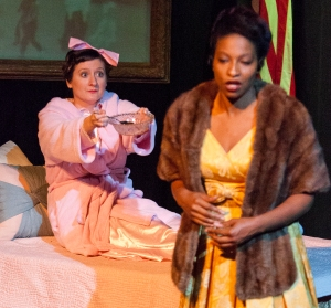"Elizabeth Van Pelt as a wide-eyed Mamie Eisenhower and Jeanitta Perkins as Marian Anderson in ""First Lady Suite"" at R-S Theatrics. Photo: Michael Young"