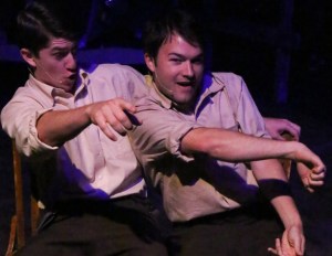"Brendan Ochs as Buck Barrow and Matt Pentecost as Clyde in ""Bonnie & Clyde"" at New Line Theatre. Photo: Jill Ritter Lindberg"