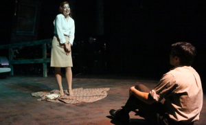 "Larissa White charms Matt Pentecost in New Line's ""Bonnie & Clyde."" Photo: Jill Ritter Lindberg"
