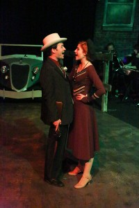 "Matt Pentecost and Larissa White as ""Bonnie & Clyde"" at New Line. Photo: Jill Ritter Lindberg"