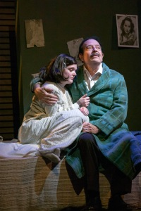 "Bobby Miller as Otto Frank, comforts his daughter, played by Samantha Moyer in ""The Diary Of Anne Frank"" at New Jewish Theatre. Photo: John Lamb"