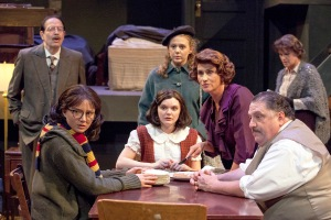 "The families gather to play and converse once the coast is clear in the New Jewish production of ""The Diary Of Anne Frank."" Photo: John Lamb"