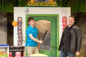 """Nathan Bush as Aiden threatens his best friend, JP, played by Jared Sanz-Agero in Max & Louie's """"Chancers."""""""