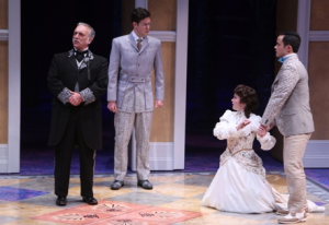 "Jerry Vogel, Andy Rindlisbach, Caroline Amos and Jeffrey Omura in ""A Midsummer Night's Dream"" at the Repertory Theatre of St. Louis. Photo: Jerry Naunheim Jr."