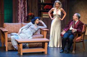 "Nancy Bell, Lee Anne Mathews and Michael James Reed in the sparkling comedy, ""Blithe Spirit"" at STLAS. Photo: John Lamb"