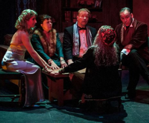 "The seance scene in Noel Coward's ""Blithe Spirit"" at St. Louis Actors' Studio. Photo: John Lamb"