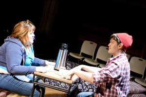 "Katie Donnelly as Evie and Casey Boland as Colin in R-S Theatrics' ""Eat Your Heart Out."" Photo: Michael Young"