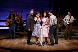 """The four """"principal"""" players gather for some of the music made famous by Johnny Cash in the Rep's """"Ring Of Fire."""" Photo: Jerry Naunheim, Jr."""