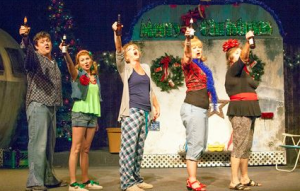 "A holiday toast from the cast of Stray Dog's ""The Great American Trailer Park Christmas Musical."" Photo: John Lamb"