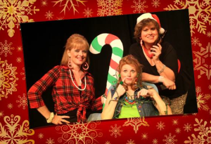 "Kay Love, Jessica Tilghman and Laura Kyro are the lovely ladies of ""The Great American Trailer Park Christmas Musical"" at Stray Dog Theatre."