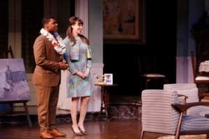 "Richard Prioleau and Shannon Marie Sullivan as John and Joanna in ""Guess Who's Coming To Dinner"" at the Repertory Theatre of St. Louis"