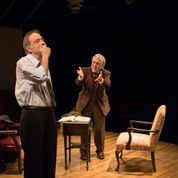 "Bobby Miller and Jerry Vogel in ""Imaging Madoff' at New Jewish Theatre. Photo: Eric Woolsey"