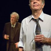 "Jerry Vogel and Bobby Miller in ""Imagining Madoff"" at NJT. Photo: Eric Woolsey"