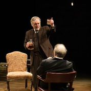 "Jerry Vogel and Bobby Miller in the New Jewish Theatre production of ""Imagining Madoff."" Photo: Eric Woolsey"
