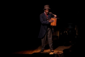 "Daniel Morgan Shelley plies his cobbler trade in the opening scene of the Rep's Studio production of ""Safe House."" Photo: Jerry Naunheim, Jr."