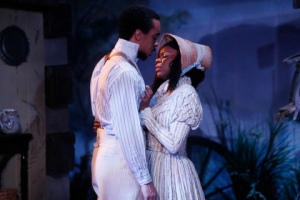 """Will Cobbs and Raina Houston in the Rep Studio production of """"Safe House."""" Photo: Jerry Naunheim, Jr."""