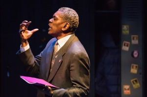 "A powerful performance by J. Samuel Davis drives ""Bashir Lazhar"" at Upstream Theatre. Photo: Peter Wochniak"