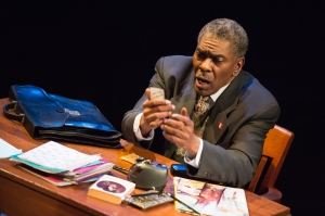 "J. Samuel Davis as ""Bashir Lazhar"" at Upstream Theatre. Photo: Peter Wochniak"
