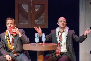 "Ben Nordstrom and Charlie Barron drink their troubles away in ""White To Gray"" at Mustard Seed Theatre. Photo: John Lamb"