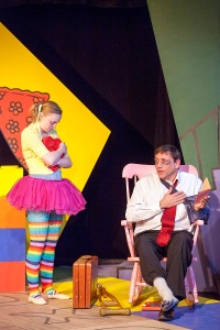 "Kimberly Byrnes as Lucy and Michael Brightman as Bradley in WEPG's ""Mr. Marmalade."" Photo: John Lamb"