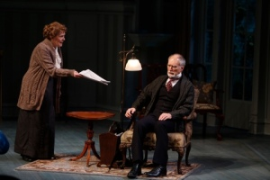 "Peggy Billo as Violet and Jeff Hayenga as Arthur in ""The Winslow Boy"" at the Repertory Theatre of St. Louis. Photo: Jerry Naunheim, Jr."