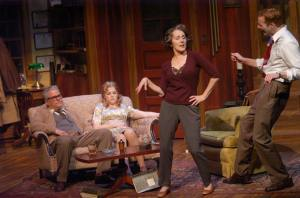 Things heat up as Martha dances with Nick and George and Honey can only watch and speculate. Photo: John Lamb