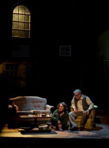 Martha and George are left alone to contemplate the damage after Nick and Honey have finally left the battlefield. Photo: John Lamb