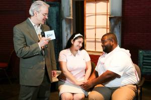 """Keith Thompson, Christina Rios and Marshall Jennings in New Line's """"Jerry Springer-The Opera."""" Photo: Jill Ritter Lindbergh"""