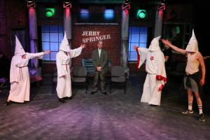 "Even the Ku Klux Klan make an appearance in ""Jerry Springer- The Opera"" at New Line. Photo: Jill Ritter Lindberg"