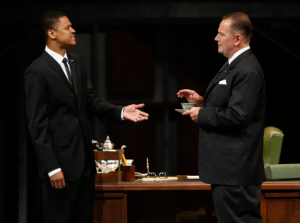 "Avery Glymph as Martin Luther King and Brian Dykstra as LBJ in ""All The Way"" at the Repertory Theatre of St. Louis. Photo: Jerry Naunheim, Jr."