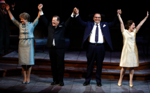 "The Humphrey's and the Johnson's celebrate their victory in the 1964 presidential race in ""All The Way"" at the Rep. Photo: Jerry Naunheim, Jr."