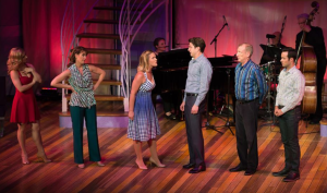 """The women confront the men in Maltby and Shire's """"The Story Goes On"""" at Stages St. Louis"""
