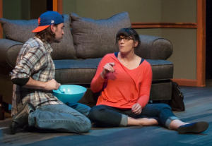 """Jason Contini and Taylor Pietz discuss writing and relationships during """"Seminar"""" at St. Louis Actors' Studio."""