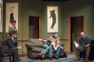 "The writer's hold their breathes as Leonard reviews yet another work in progress at STLAS's production of ""Seminar."""