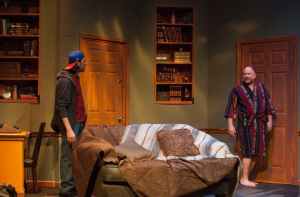 """Jason Contini and John Pierson confront each other in """"Seminar"""" at St. Louis Actors' Studio."""