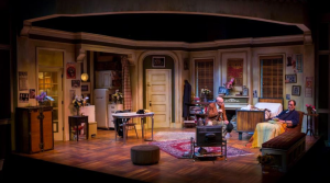 "The beautiful Margery and Peter Spack set design with Peter Mayer and John Contini in ""The Sunshine Boys"" at New Jewish Theatre."