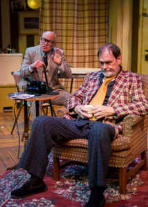 "Peter Mayer as Al rambles on to an indifferent Willie played by John Contini at the New Jewish production of ""The Sunshine Boys."""
